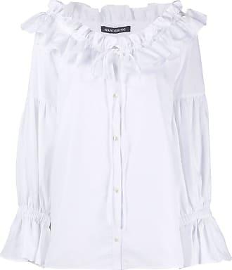 WANDERING Camisa com babados na gola - Branco