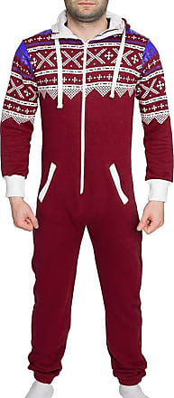Shelikes New Unisex Onesie Tracksuit Mens Womens Aztec Hood Jumpsuit Playsuit