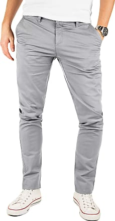 Yazubi Mens Trousers Chinos Pants Kyle - Slim Bigger Tall Light Silver Iron - Khaki, Grey (Gull 4R173802), W40/L36