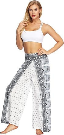 FNKDOR Holiday Clearance Women Casual Breathable Summer Loose Yoga Jogging Sport Trousers Baggy Boho Aladdin Jumpsuit Harem Pants(White,M)