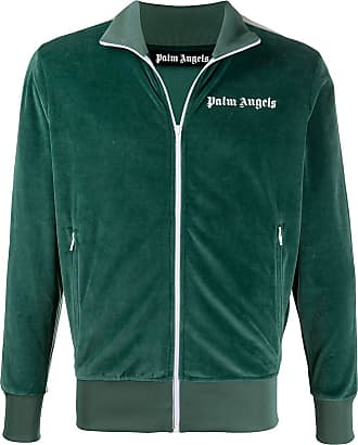 Palm Angels chenille track jacket - Green