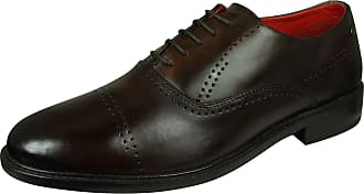 Base London Lyric Mens Leather Shoes Lace-Up Brogue Oxfords-Brown-10