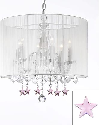 Gallery T40-617 19.5 Tall 6 Light 1 Tier Chandelier with Silk Shade