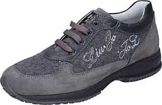 Liu Jo Baby-Girls Suede Grey Fashion-Sneakers 13 UK Child