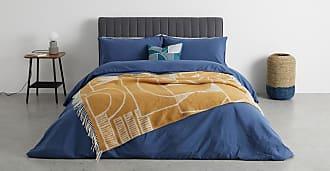 MADE.COM Cassar Decke (125 x 170 cm), Senfgelb