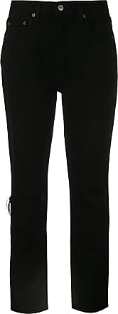 Reformation Calça jeans cigarette Julia - BLACK