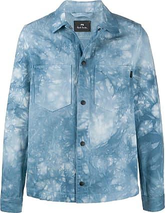 Paul Smith Jaqueta jeans tie-dye - Azul