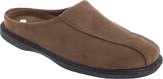 Zedzzz Mens Jarrow Synthetic Suede Mule Slippers (12 UK) (Brown)