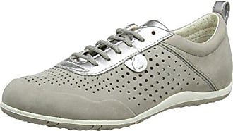 Geox Womens Vega 21 Lightweight Suede Sneaker, Light PST Grey, 41 Medium EU (10.5 US)