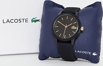 Lacoste 12.12 silicone watch in black