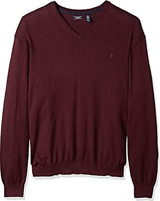 Izod Mens Big and Tall Premium Essentials Fine Gauge Solid V-Neck Sweater, Fig Purple, 2X-Large Big