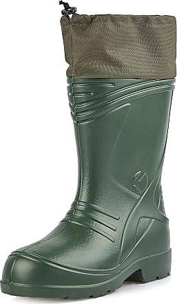 Ladeheid Mens EVA Extra Light Wellington Boots Rainy Wellies Rain Boots KL035 (Olive, 12.5 UK)