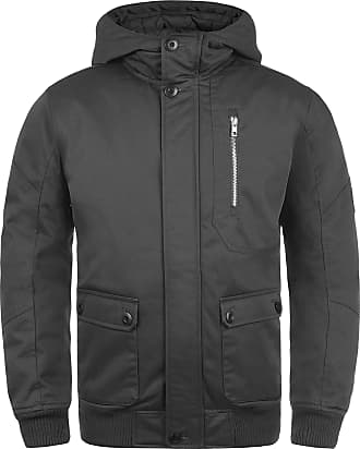 Solid Wallace Mens Winter Jacket Outdoor Jacket with Hood, Size:L, Colour:Dark Grey (2890)