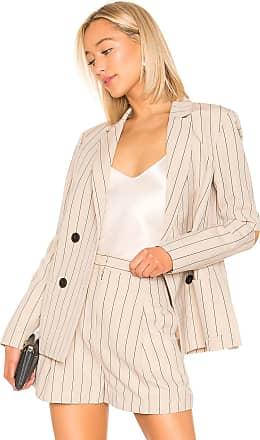 Tibi Tropical Suiting Blazer in Tan