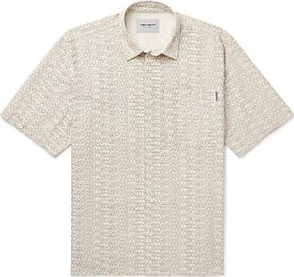 Carhartt Work in Progress Logo-print Cotton-twill Shirt - Off-white