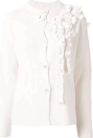 Onefifteen Cardigan branco com aplicação floral
