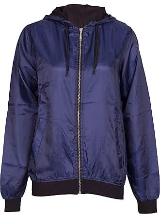 Noroze Womens Bomber Style Raincoat Jacket (Navy, 2XL)