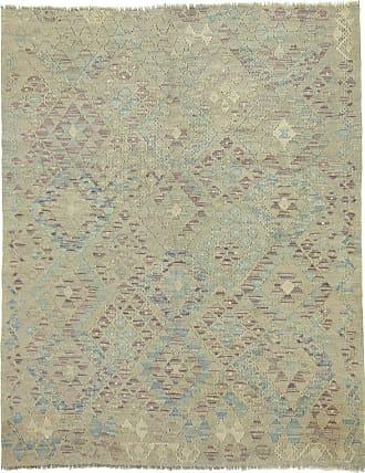Nain Trading 171x137 Kilim Afghan Heritage Rug Grey/Olive Green (Afghanistan, Wool, Handwoven)