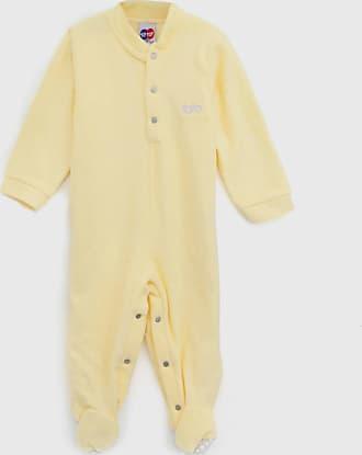 Tip Top Pijama Tip Top Longo Infantil Liso Amarelo