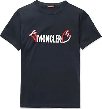 Moncler 2 Moncler 1952 Printed Cotton-jersey T-shirt - Navy