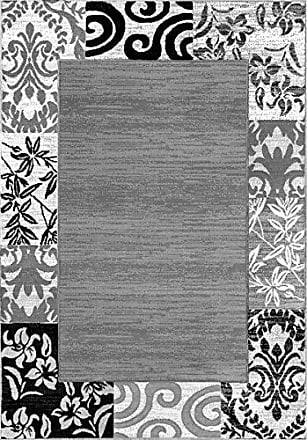 Well Woven 19587 Zebra Miami Modern Area Rug, 710 x 910, Grey