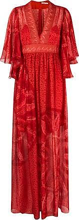 Three Graces London TGL x Zandra Rhodes: Gabrielle Dress in Red Banana Leaf