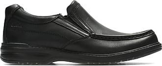 Clarks Keeler Step Mens Wide Slip On Shoes 7.5 Black