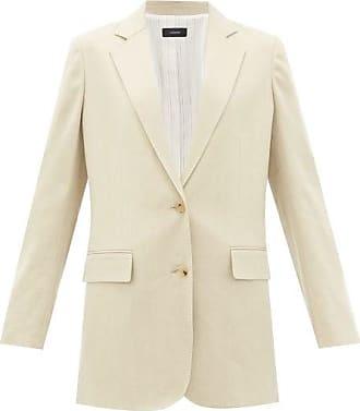 Joseph Mayfield Single-breasted Linen-blend Blazer - Womens - Light Beige