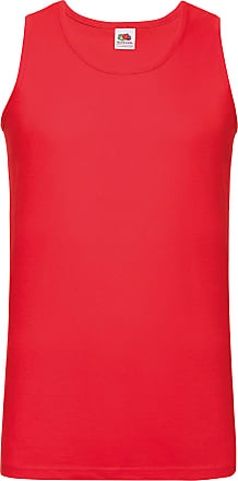 Fruit Of The Loom 5 Pack of Fruit of the Loom Mens Athletic Vests Tank Top T Shirt All Sizes and Colours (Medium Mens 38-40 Inch Chest, 5 x Red)