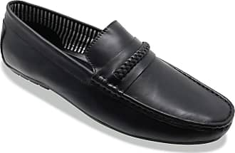 Chums Mens Leather Wide Fit Driving Shoe Black 12 UK