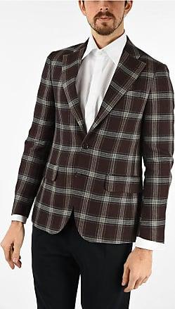 Corneliani CC COLLECTION blazer RETAILORED tartan in lana vergine e in taglia 48