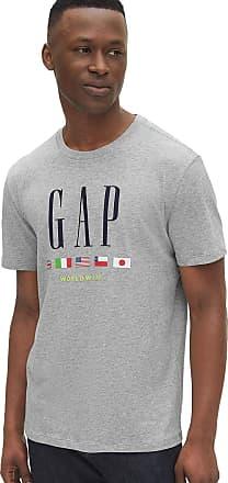 GAP Camiseta GAP Logo Cinza