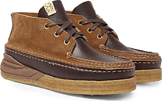 3079815b13b Visvim Canoe Moc Ii Cross-grain Leather And Suede Boots - Brown