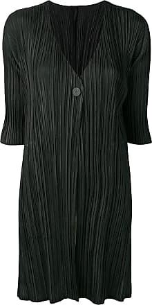 Issey Miyake micro pleated coat - Black