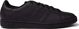Lonsdale Mens Leyton Leather Trainers Court Lace Up Padded Ankle Collar Black/Black UK 10.5 (45.5)