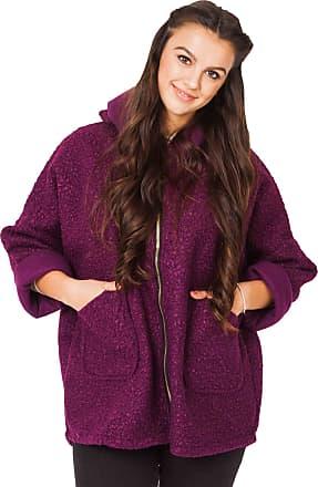 Love my Fashions Carmen Textured Wool Hooded Jacket Purple