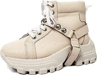 Damannu Shoes Tênis Chunky Alexia Craquelê Branco - Cor: Branco - Tamanho: 35