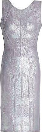 de3ec466277e Hérve Léger Hervé Léger Woman Annette Metallic Coated Bandage Mini Dress  Lilac Size XS