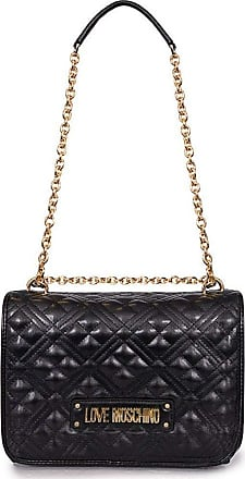 Love Moschino Accessories Quilted Logo Shoulder Bag (Colour : Black - Size : One)