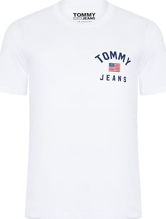 Tommy Jeans T-SHIRT MASCULINA CHEST LOGO - BRANCO
