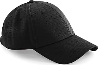 Beechfield Unisex Adults Air Mesh 6 Panel Cap (One Size) (Black)