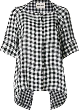 Henrik Vibskov Camisa de linho assimétrica - Branco