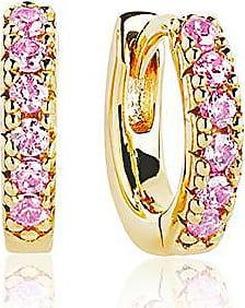 Sif Jakobs Jewellery Earrings Ellera Piccolo - 18k gold plated with pink zirconia