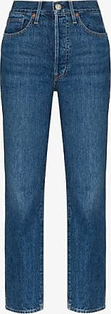 3x1 Womens Blue Claudia High Waist Slim Jeans