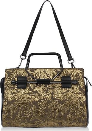 Viktor & Rolf Jacquard Fabric Shopping Bag with Leather Details Größe Unica