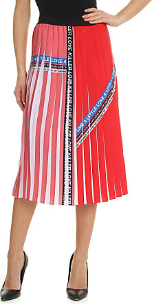 Pinko Adorabile Addicted to Love skirt in red and white