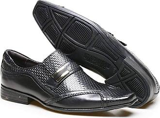 Calvest Sapato Social em Couro Verniz Textura Trento Calvest - 2320C410-Preto-37 LC