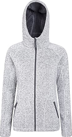Mountain Warehouse Womens Nevis Fur Hoodie - Soft, Warm, Chin Guard & Fleece Lining with Adjustable Hood & Pockets- Ideal for Winter Light Grey 26
