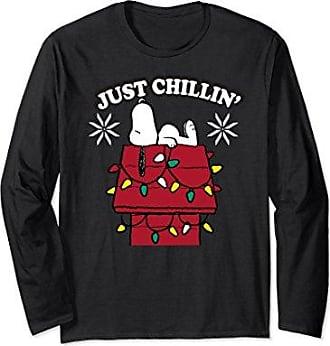 peanuts unisex peanuts snoopy dog house chillin christmas long sleeve large black