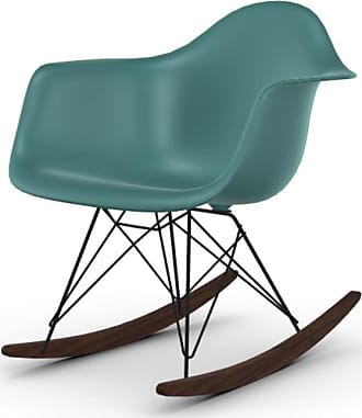Vitra Eames Plastic Armchair RAR Acero Scuro/Oceano - Poltrona a Dondolo